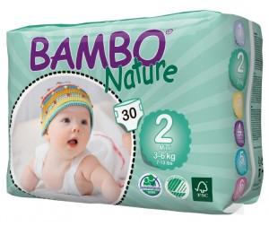 Bambo Nature Подгузники Mini (3-6 кг) 30 шт.