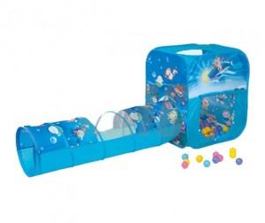 BabyOne Домик игровой с туннелем Океан + 100 шариков