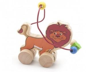 Купить Каталка-игрушка Мир деревянных игрушек (МДИ) Лабиринт-каталка Лев