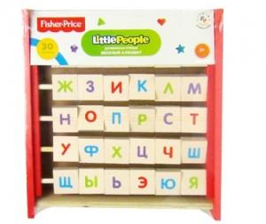 Купить Деревянная игрушка Fisher Price Веселый алфавит-перевертыш