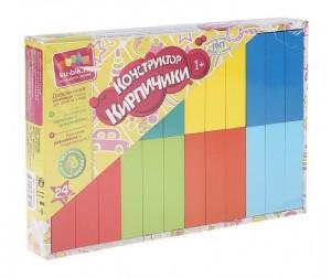 Купить Деревянная игрушка Alatoys Набор Кирпичики деревянный окрашенный 24 шт.