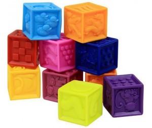 Развивающая игрушка Battat B.Dot Мягкие кубики One Two Squeeze