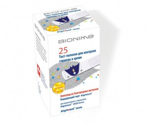 Bionime Тест-полоски для глюкометра Rightest GS300 25 шт.