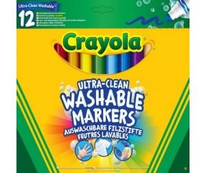 Купить Фломастеры Crayola смываемые Супер чисто 12 шт.