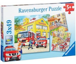 Купить Ravensburger Пазл Пожарная бригада 3х49 элементов