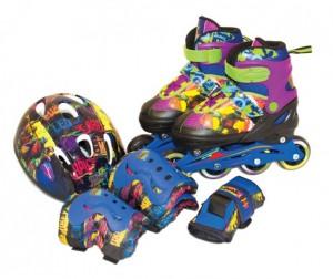 Купить Роликовые коньки Gulliver Sport Набор роликовые коньки + защита TMNT (размер 30-33)