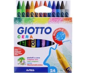 Купить Giotto Мелки Восковые мелки Cera Ast 24 цвета
