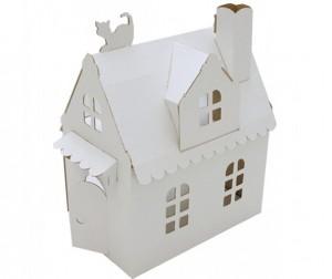 Купить Картонный папа Кукольный домик из картона Домик Алисы белый