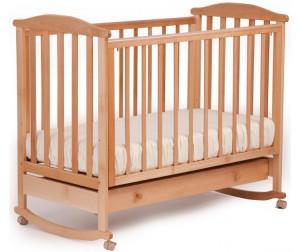 детские кроватки +для новорожденных Кубаньлесстрой АБ 15.1 Лютик качалка с ящиком