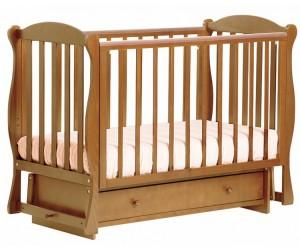 кроватки +для новорожденных Кубаньлесстрой БИ 42.2 Кубаночка-6 маятник поперечный