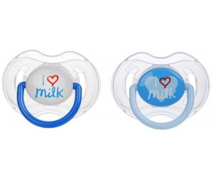 Пустышка Philips Avent I love milk 0-6 мес. 2 шт.