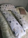 26732 AmaroBaby Подушка для беременных U-образная Звезды пэчворк 340х35 см от пользователя Юлия