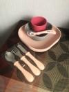 7067 Beaba Набор посуды (2 тарелки, стакан, ложка) Silicone Meal Set от пользователя Мария
