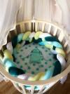32495 Forest kids Простынь для круглого матраса на резинке Stars 75х75 от пользователя Юлия