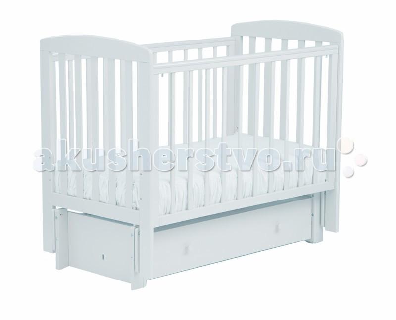 Детские кроватки Кубаньлесстрой АБ 16.3 Ромашка маятник продольный с ящиком