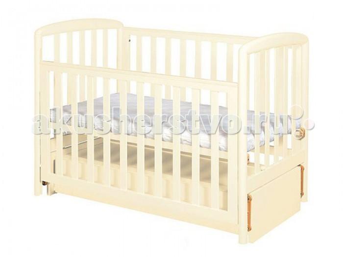 Детская кроватка Кубаньлесстрой АБ 18.3 Незабудка маятник продольный с ящиком