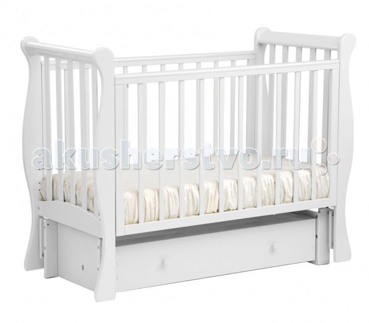Детские кроватки Кубаньлесстрой АБ 21.3 Лаванда маятник продольный с ящиком