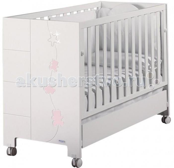 Детские кроватки Micuna Juliette Relax Luxe с кристаллами Swarovski 120х60