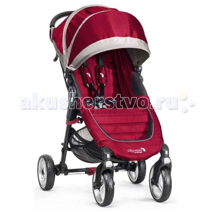 Прогулочная коляска Baby Jogger City Mini 4 WheelCity Mini 4 WheelПрогулочная коляска Baby Jogger City Mini 4 Wheel – прогулочная четырехколесная коляска для одного ребенка. Максимальная допустимая нагрузка на коляску составляет 23 кг. City Mini 4 Wheel надёжно стоит на 4 ненадуваемых колёсах, передняя пара свободно вращается на оси, а на случай снега, песка, бездорожья или гололёда колёса плотно фиксируются.  Амортизация тоже сделала шаг вперёд, и ваш малыш будет сладко посапывать даже на сложной для обычной коляски трассе. Отлично себя зарекомендовавшая технология быстрого складывания остаётся в действии, также как и жёсткая спинка с мягкими нашивками для удобства малыша и поддержания его спинки. Этой же цели служит ремень с пятью точками крепления и мягкими подушечками-накладками на плечах.  Дополнительное удовольствие для малыша во время прогулки в City Mini 4 Wheel – это возможность установки спинки сиденья не только почти горизонтально, но и почти вертикально. Так и сидеть удобно, и обзор максимально широк.  Прогулочный блок: грузоподъёмность: до 22 кг, то есть вы вольно выбирать позволенный вес при помощи загрузки карманов и отделов коляски покупками и прочим грузом легко, быстро и удобно складывается благодаря запатентованной фирмой Baby Jogger системе Quick-Fold Technology сиденье откидывается в почти горизонтальное положение – максимально удобную позицию для сна малыша регулируемый по высоте капюшон со встроенным смотровым окном регулируемые по высоте для детей разного роста 5-титочечные ремни безопасности с мягкими наплечниками универсальный кронштейн для крепления различных аксессуаров удобный сетчатый карман за спинкой сиденья для игрушек и детских принадлежностей система автофиксации коляски в сложенном виде.  Шасси: двойное переднее поворотное колесо тщательно изготовлено для обеспечения точного маневрирования, поэтому коляску легко поворачивать даже в многолюдных местах колесо легко блокируется для долгой прогулки по неровной дороге независимая аморт