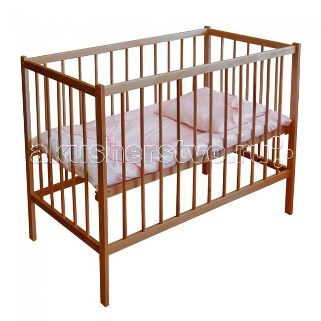 Детская кроватка Фея 101101Детская кроватка Фея101 изготовлена из натурального материала сбезвредным лакокрасочным покрытием. Имеет прочную, легко собираемую конструкцию.  Перед молодыми новоиспеченными родителями очень часто встает актуальная проблема подбора детской кроватки. Интереснейшим домашним вариантом является модель Фея 101. Она изготовлена в особом дизайне, станет украшением каждого искусного интерьера.  В комплектацию войдет отличное ортопедическое основание. Это все, что надо для нормальной эксплуатации приобретенной кроватки.  Модель подойдет для деток вплоть до трех лет. Она предельно удобная. Именно в ней малыш будет засыпать за считанные секунды. Здесь отсутствуют колесики. Не смотря на это, передвигать изделие довольно просто, ведь вес довольно мал. Цена кроватки крайне привлекательная по современным меркам. Поэтому лучше поразмыслить о приобретении прямо сейчас.  Модель выделяет относительная компактность. Это 124 - 68 - 96 сантиметров. Для ложа это 60 на 120 сантиметров. Как отмечалось, транспортировать кроватку нетрудно. Ее вес составляет какие-то несущественные 12 килограмм.  Особенности: Простота конструкции, которая приглянется большинству; Двухуровневое ложе; Произведено из березовой древесины; Присутствует регулирование передней стенки, настройте оптимальную высоту. Ящики отсутствуют.<br>
