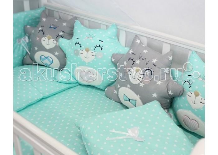 Комплекты в кроватку ByTwinz Спящие игрушки Котики (12 предметов) горбунова и в метровая раскраска котики и котята