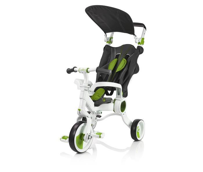 Велосипед трехколесный Galileo Strollcycle 4 в 1Strollcycle 4 в 1Велосипед трехколесный Galileo Strollcycle 4 в 1 в котором все заранее учтено для комфорта.  Режимы дла переключения на ходу:  Режим сидя: вертикальная позиция для вашего малыша во время движения. Эргономичное сиденье регулируется и может быть перемещено назад или вперёд, обеспечивая максимальный комфорт для молодого ездока. Режим сна: чтобы вашему малышу было ещё комфортнее, изделие можно переключить в режим сна, при этом спинка кресла откидывается назад, чтобы обеспечить поддержку ребенка, когда он будет дремать. Режим безопасного управления: угол поворота высокоманёвренного руля составляет 360 градусов. Управление рулём может быть нейтрализовано одним нажатием кнопки, при этом контроль переходит к родителям. Режим нейтрализации педалей: родители могут управлять работой педалей и давать ребёнку возможность самому крутить их. Это отличный вариант для маленьких детей, которым нужна практика в том, чтобы крутить педали, это улучшит их навыки. Режим подставки для ног: педали можно использовать в виде подставки для ног малышей, которые не достигли роста, при котором могут достать до педалей, педали также можно зафиксировать на переднем колесе, чтобы ребёнок мог их крутить. Особенности: У Galileo есть потрясающая запатентованная конструкция, которая обеспечивает комфорт и безопасность. Все материалы безопасны для детей, отличаются высоким качеством и отвечают международным стандартам безопасности. StrollcycleTM поставляется в собранном виде, и нет необходимости тратить время на то, чтобы собирать его дома. Он готов к использованию сразу из коробки. Простейший механизм позволит вам удобно складывать Galileo для поездок или хранения. Ручка Galileo уникальна и может регулироваться по высоте. Вам не придётся иметь дело с предустановленными метками, которые не учитывают потребности родителей. Транспортируйте свой Galileo с удобным доступом к бамперу — лёгкую модель можно перевозить с комфортом. С целью обезопас