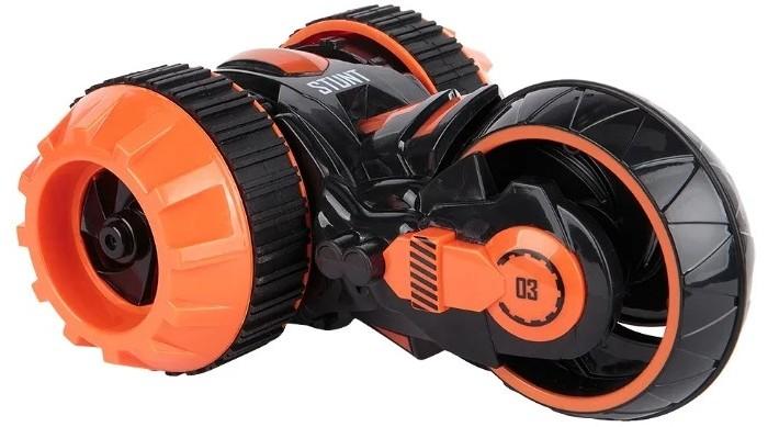 1 Toy Драйв трюковая трёхколёсная машина-перевёртыш на ручном  вращение со светом c АКБ