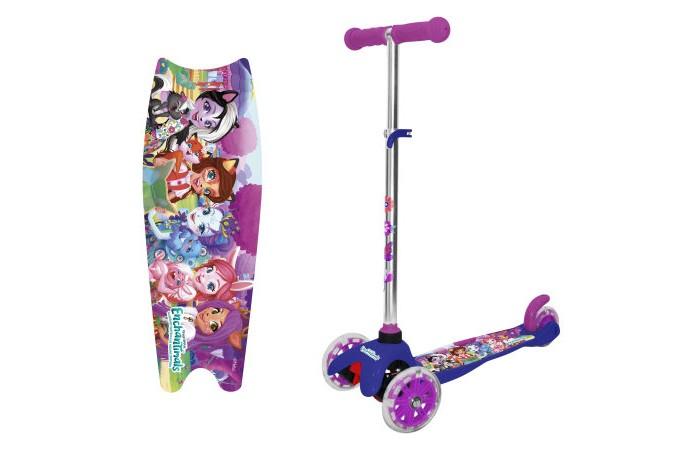 Купить Трехколесные самокаты, Трехколесный самокат 1 Toy Кикборд со светящимися колёсами Mattel Enchantimals