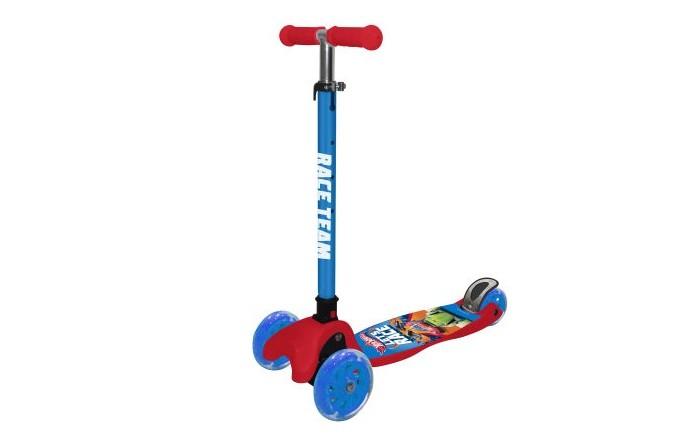 Купить Трехколесные самокаты, Трехколесный самокат 1 Toy Кикборд со светящимися колёсами Navigator Hot Wheels