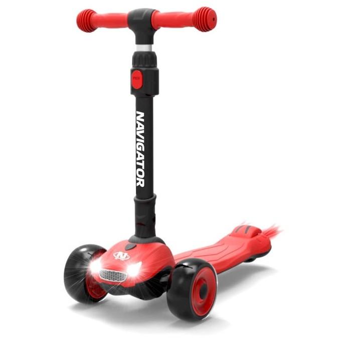 Купить Трехколесные самокаты, Трехколесный самокат 1 Toy Кикборд со светящимися колёсами Navigator