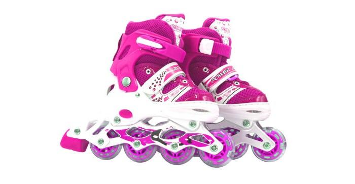 Детские ролики 1 Toy колеса PVC со светом