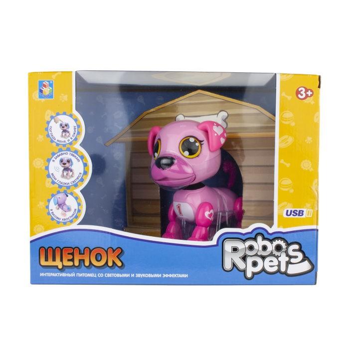 Фото - Интерактивные игрушки 1 Toy Robo Pets Робо-щенок игрушка интерактивная 1toy robo pets робо щенок розовый