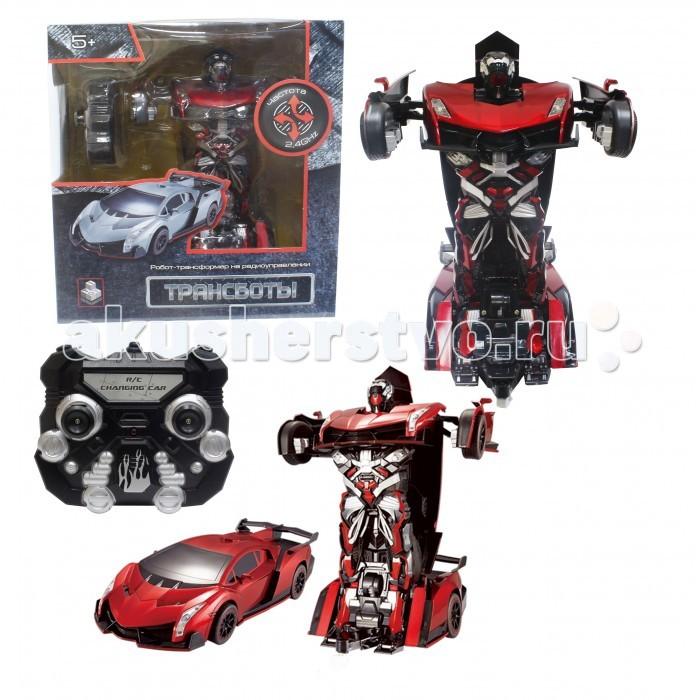 Роботы 1 Toy Робот-трансформер Спортивный автомобиль на р/у игрушка конструктор фиксики эластик спортивный автомобиль 2 в 1 fix0711 001