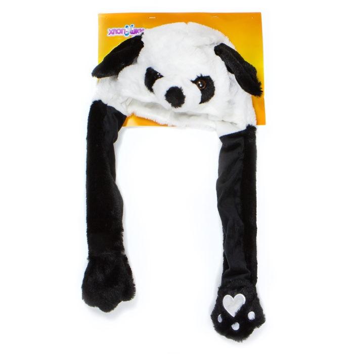 Карнавальные костюмы 1 Toy Шапка детская Хлоп-Ушки Панда