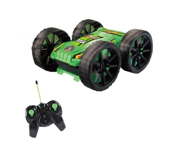 1 Toy Машина-перевёртыш трюковая Hot Wheels на р/уРадиоуправляемые игрушки<br>Трюковая машина-перевёртыш Hot Wheels - станет желанным подарком для всех поклонников радиоуправляемых автомобилей и главным украшением любой коллекции игрушек.   Яркий и стильный дизайн машинки привлекает внимание с первого взгляда, а необычная конструкция позволяет двигаться во всех направлениях и совершать различные маневры. С помощью удобного пульта управления ребенок сможет выполнять захватывающие трюки, переворачивать и вращать машину.   Легендарная серия машинок Hot Wheels трюковая машина-перевёртыш на радиоуправлении.  С такой игрушкой дети могут устраивать настоящее шоу, соревнуясь в ловкости, скорости и умении управлять машинкой Hot Wheels.  Особенности:  Возраст: от 3 лет Вращение на 360°  Тип управления: радиоуправляемый Вид: Перевертыш Материал изготовления: пластик Цвет: черно-зеленый