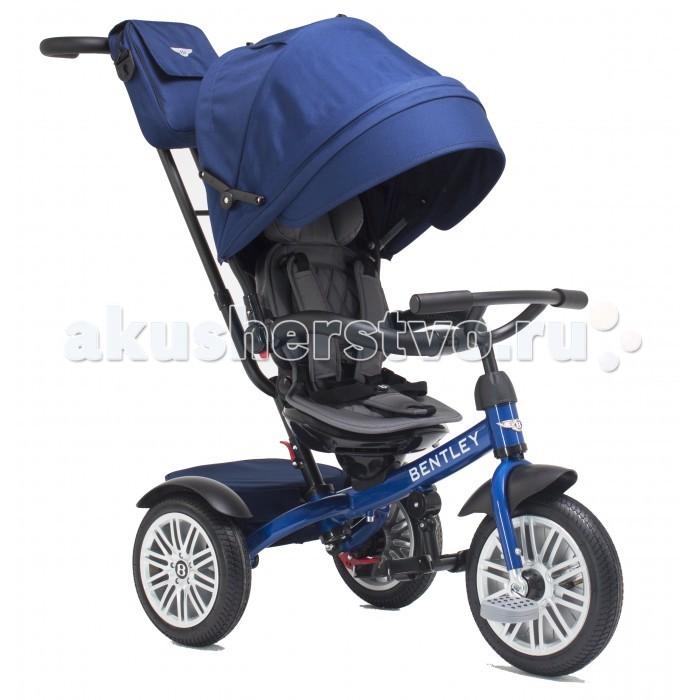 """Велосипед трехколесный Bentley BN1BN1Велосипед трехколесный Bentley BN1 обеспечит комфорт и удовольствие для вашего малыша во время прогулки.  Такой универсальный детский транспорт позволяет ребенку как ездить самостоятельно, так и кататься под контролем взрослого. При самостоятельном передвижении ребенок будет приводить велосипед в движение при помощи педалей и управлять им рулем. Если же велосипед выполняет функцию прогулочной коляски, взрослый сможет толкать его перед собой при помощи специальной ручки, которая также служит и для управления.  Особенности: Надувные колеса с протектором 12 и 10 дюймов  Холостой ход переднего колеса  обеспечивает безопасность движения  Поворотное на 180 градусов эргономичное сиденье  Дополнительные подножки (съемные) для самых маленьких пассажиров  Наклонная спинка сиденья на 2 положения обеспечивает дополнительный комфорт Стояночный тормоз на задних колесах для безопасной стоянки  Разъёмная/съемная дуга безопасности  (с мягкой накладкой из эко-кожи с фирменной строчкой) обеспечивает безопасность при движении  5-точечный ремень безопасности обеспечивает безопасность ребенка при движении  Складная крыша (на 2 сложения) со съемным козырьком. Крыша защищает от дождя, ветра и прямых солнечных лучей  Съемная крыша Смотровое окошко (прозрачный пвх) позволяет следить за ребенком во время движения  Фирменная вместительная сумочка с ремнем на ручке управления (съемная) 13. Складные подножки  Регулируемая по высоте в 2х положениях ручка управления (с мягкой накладкой из эко-кожи с фирменной строчкой) 15. Съемный подголовник с мягкой накладкой Корзина с крышкой Рекомендуемый рост ребенка 70-110 см Материал металл, PP, PVC, ABS пластик, TPR Упаковка индивидуальная коробка Диаметр колес 12"""" передние 10"""" задние  Холостой ход переднего колеса  Стояночный тормоз  Поворотное сиденье Колясочная крыша Наклонная спинка сиденья  Размер велосипеда: 83 x 50.5 x 105.5 см Размер упаковки: 70 х 38 х 30 см.<br>"""