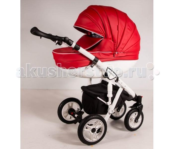 Коляска Genesis Lacio Eco 4 в 1 (надувные колеса)Lacio Eco 4 в 1 (надувные колеса)Коляска Genesis Lacio Eco 4 в 1 - первая коляска с двойной амортизацией, всесезонная модель для города и сельской местности!  Данная модель представлена в нескольких сочетаниях дна люльки и рамы. Дно люльки может быть белого или черного цвета, так же как и рама. Рамы коляски имеют надувные колеса.   Особенности Шасси:  ручка для переноса в сложенном виде.  фиксатор исключает случайное раскладывание шасси  глубокая корзина с крышкой  отделка ручки — высококачественная эко-кожа  настройка ручки управления по высоте  пара передних колес осуществляют вращение по кругу  надувные легкосъемные колеса на подшипниках  педаль тормоза для мгновенной блокировки задней оси  регулируемая амортизация на задних колесах  дополнительные амортизаторы на шасси  алюминиевая рама складывается книжкой  Особенности люльки:  сумка-переноска в комплекте.  легкосъемная внутренняя обивка из нежного хлопка  полозья для укачивания новорожденного (люлька качается как колыбель)  двухпозиционный капюшон с козырьком от солнца  беззвучное опускание капюшона  на лето обивка капюшона полностью снимается, оставляя москитную сетку  регулировка высоты подголовника  высокий борт на накидке крепится к капюшону, полностью закрывая ребенка от непогоды  центрированная кожаная ручка  матрасик.  Прогулочное сиденье:  4-х позиционная спинка полностью раскладывается  регулируемые по длине 5-титочечные ремни  бампер отстегивается с двух сторон  тканевая перемычка между ног  6-типозиционная подножка, обтянутая эко-кожей  мягкий вкладыш-матрасик  съемные тканевые детали можно стирать  капюшон с сетчатым окошком и козырьком  плотная накидка закрывает малыша полностью от ножек до головы  спрятанная под молнией ручка для переноски.  В комплекте:  сумка в тон обивки коляски  пеленальный матрасик  антимоскитная сетка  муфта для рук  дождевик  накидки-чехлы на каждый модуль  автокресло 0-13  сумка переноска<br>