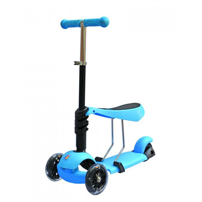 Детский транспорт , Трехколесные самокаты 1 Toy 3 в 1 управление наклоном арт: 313324 -  Трехколесные самокаты