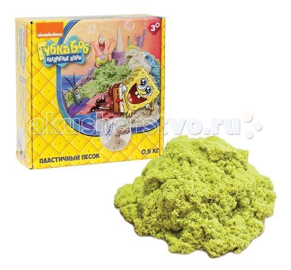Всё для лепки 1 Toy Губка Боб космический песок 0.5 кг