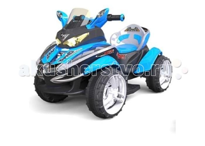 Электромобиль 1 Toy КвадроциклКвадроциклАккумуляторная машина Квадроцикл со звуковыми эффектами. Управляемый автомобиль - это самая желанная игрушка для мальчиков. Машинка имеет максимально реалистичный вид, выполнена в ярких, привлекательных цветах, что делает её ещё более интересной. Машина оснащена звуковыми сигналами и музыкальным сопровождением. Во избежание проблем с эксплуатацией модель сопровождается подробной инструкцией на русском языке.  Особенности: 2 мотора 30W Задний привод 12V 7A аккумулятор (время работы 2 часа, время зарядки 10-12 часов) Пульт управления дальность действия 20 метров, 27 Герц Красивый дизайн + музыкальный руль и разъем 3.5мм под MP3. Регулятор громкости. Свет фар и подсветка корпуса Ремень безопасности Максимальная скорость 5 км/ч, 1 вперед, 1 назад Светодиодная подсветка корпуса Колеса пластиковые с резиновый вставкой и серебристыми дисками Эргономичное посадочное место Шикарно смотрится в вечернее время суток Размер квадроцикла: 107 х 66 х 61 см<br>