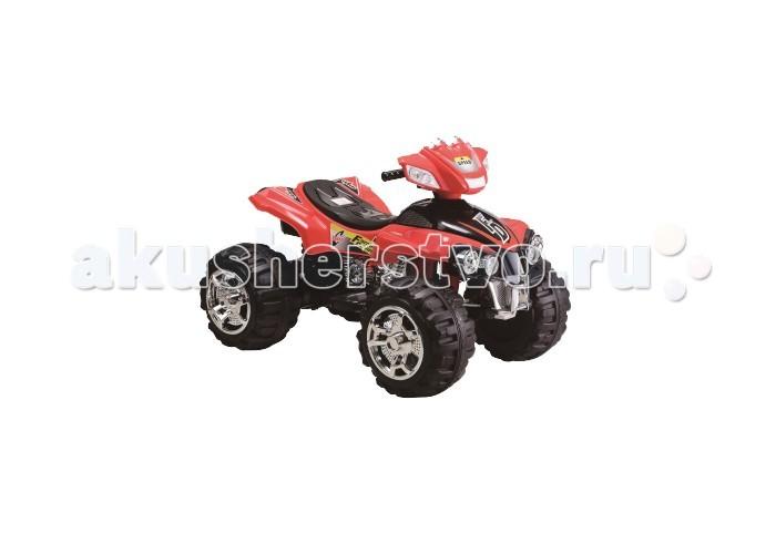 Электромобиль 1 Toy Квадроцикл Т11038Квадроцикл Т11038Электромобиль 1 Toy Квадроцикл Т11038 ребенок будет чувствовать себя так, будто он уже взрослый и управляет настоящей машиной. Квадроцикл имеет довольно большое сиденье, на котором можно удобно разместиться. Высоко расположенный руль с прорезиненными ручками расположен как раз на том уровне, где руки ребенка смогут его достать. Отдельного внимания заслуживают огромные колеса квадроцикла с тракторным рифлением. Они позволяют машине проехать и по камням, и по ямам, и по грязи или воде. Мощный мотор квадроцикла позволяет ему при желании развить просто ошеломительную скорость.  Езда малыша на квадроцикле выглядит очень эффектно, так как сопровождается различными громкими звуками, а также подсветкой. Со стороны может показаться, что это даже не детская машина, а настоящий внедорожник маленького размера.<br>