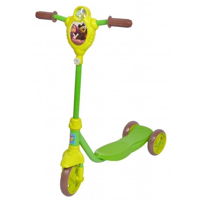 Трехколесный самокат 1 Toy Маша и Медведь с ветрячком