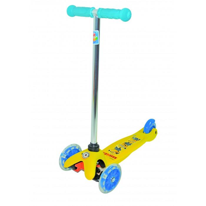 Детский транспорт , Трехколесные самокаты 1 Toy Миньоны управление наклоном арт: 312369 -  Трехколесные самокаты