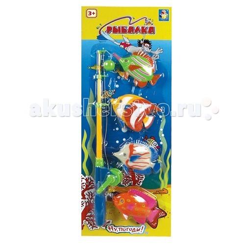 Игрушки для ванны 1 Toy Ну Погоди Игровой набор Рыбалка 53 х 19 игровой набор dave toy аэропорт с 1 машинкой