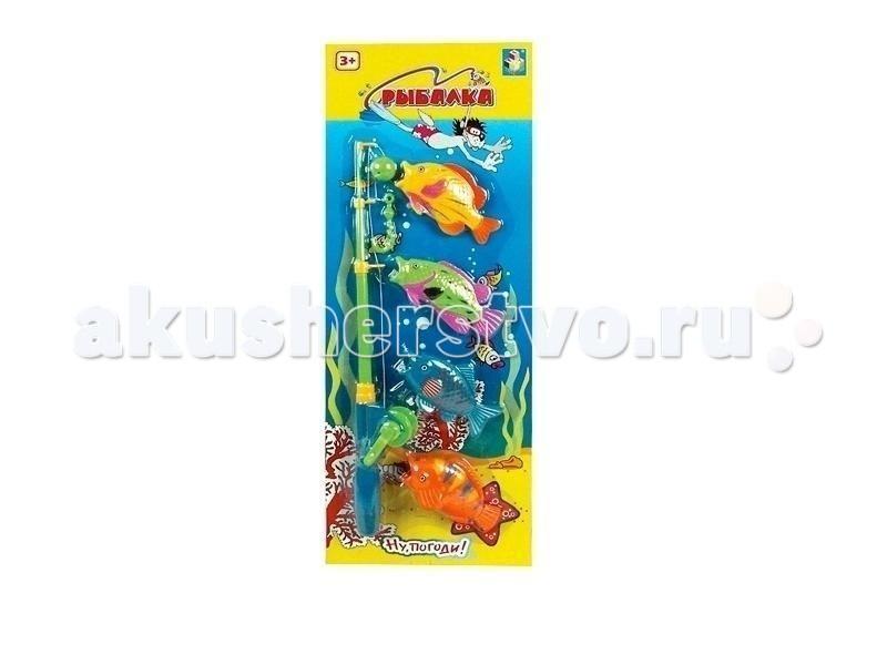 Игрушки для ванны 1 Toy Ну Погоди Игровой набор Рыбалка 53 х 19