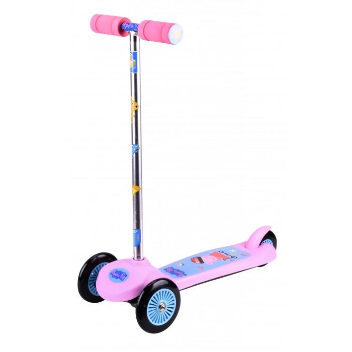 Детский транспорт , Трехколесные самокаты 1 Toy Peppa управление наклоном арт: 312214 -  Трехколесные самокаты