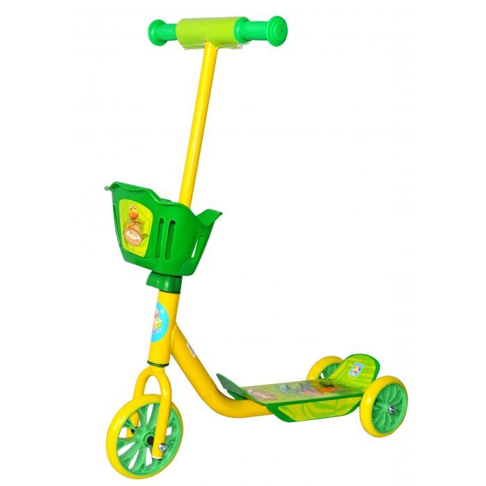 Детский транспорт , Трехколесные самокаты 1 Toy Поезд Динозавров с корзинкой арт: 312664 -  Трехколесные самокаты