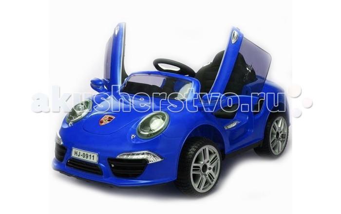 Электромобиль 1 Toy Porsche 911Porsche 911Аккумуляторная машина Porsche 911 со световыми и звуковыми эффектами. Управляемый автомобиль - это самая желанная игрушка для мальчиков. Машинка имеет максимально реалистичный вид, выполнена в ярких, привлекательных цветах, что делает её ещё более интересной. Машина оснащена звуковыми сигналами и музыкальным сопровождением. Во избежание проблем с эксплуатацией модель сопровождается подробной инструкцией на русском языке.  Особенности: Создан для детей от 3 до 5 лет. С пульта можно катать детей от 1 года Многофункициональный Пульт ДУ. Радиус от 10 до 20 метров Есть ремень безопасности Открывающиеся двери (есть блокиратор) Заводится с ключа. В комплекте 2 шт 2 аккумулятора по 6В/4.5Ач 2 x Мощных мотора по 25W MP3 вход + колонки, качественный звук мелодий, громкий. Регулировка громкости Музыкальная панель на руле Фары горят как у настоящего автомобиля Звуки: заводится мотор машины, остановка двигателя Комфортные сидения. Одно посадочное место Педаль акселератора совмещена с функциями педали тормоза - 2 в 1 2 скорости - вперед и назад Максимальная скорость 5 км/час, в среднем едет 3 км/ч с нагрузкой Универсальный рулевой механизм, обеспечивающий плавный поворот колес без резких движений.  Спортивная подвеска Зеркала заднего вида Резиновые колеса EVA!!! Заряжается 8-12 часов Держит аккумулятор 1-2 часа Оригинальное зарядное устройство Максимальная грузоподъемность 30 кг Размер машинки: 120 х 69 х 50 см<br>