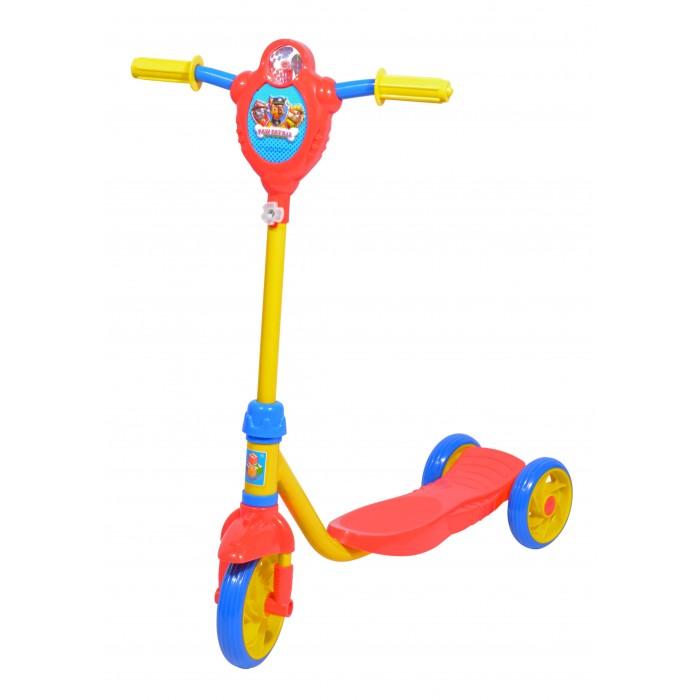 Трехколесные самокаты 1 Toy Щенячий патруль с ветрячком самокат трехколёсный 1toy щенячий патруль 6 5 красно желтый