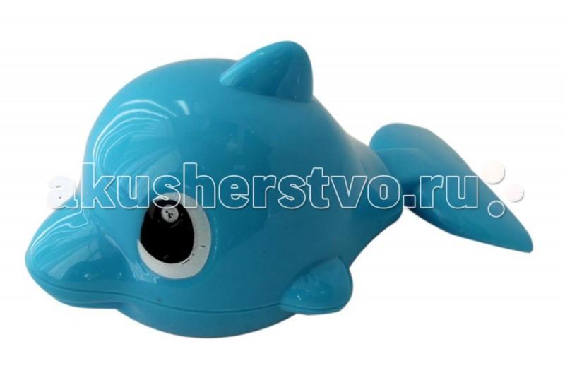 Игрушки для ванны 1 Toy Заводная игрушка для ванны Буль-Буль 13 см рокси кидс надувной круг flipper 0 с музыкой буль буль водичка